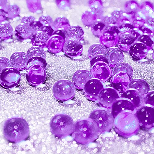 Hicarer 10000 Pieces Vase Filler Beads Gems Water Gel Beads Growing Crystal Pearls Wedding Centerpiece Decoration (Purple)