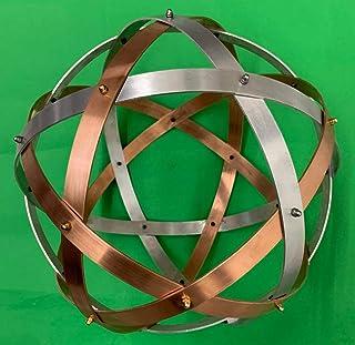 Genesa Pentasfera Mix, rame e alluminio, 32cm di diametro, intrecci simmetrici fissati con dadi ciechi