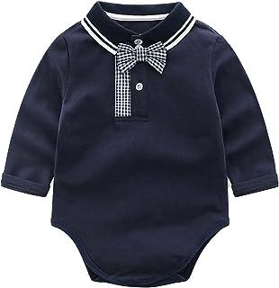 الوليد للجنسين الطفل الصلبة رومبير نيسيس طويلة الأكمام ارتداءها مائي لفتاة الرضع الصب (اللون: كحلي، المقاس: 66سم)