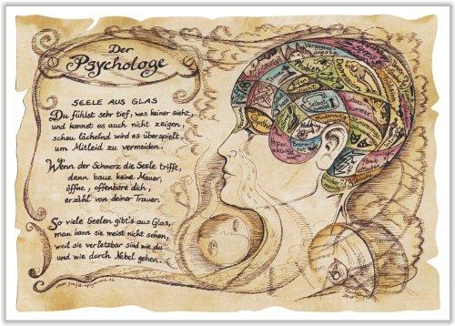 Die Staffelei Geschenk Psychologe Therapeut Zeichnung Color 20 x 15 cm