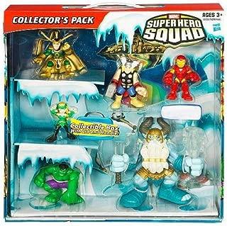 Hasbro Marvel Superhero Squad Exclusive Collectible Box Set Thor, Iron Man, Hulk, Savage Frost Giant, Marvels Enchantress Loki