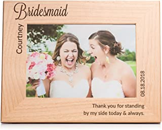 Lifetime Creations Engraved Personalized Bridesmaid Picture Frame 5x7 Frame - Personalized Maid of Honor Gift, Unique Maid of Honor