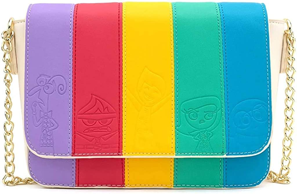 Loungefly x Pixar Inside Out Mixed Emotions Rainbow Crossbody Bag
