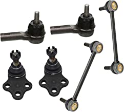 Detroit Axle - Front Lower Ball Joints w/Outer Tie Rods & Sway Bar End Links for 1996-2004 Nissan Pathfinder - [1997-2003 Infiniti QX4]