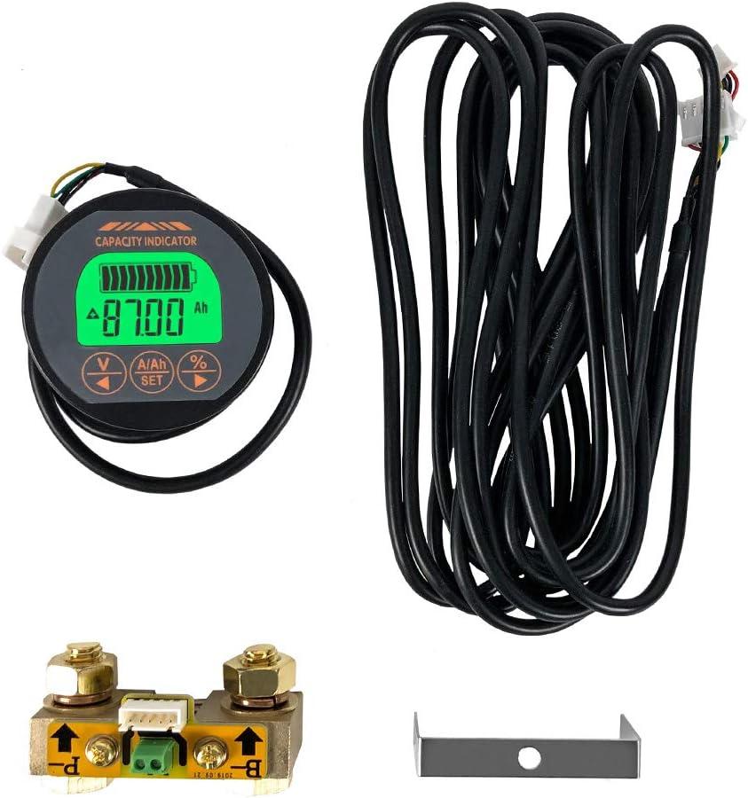 QWORK Battery Monitor Voltmeter Ammeter Japan Maker New 8V-80V Voltage Factory outlet an Range