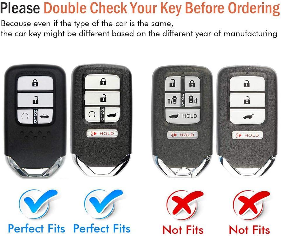 121Fruit Way Blue Soft TPU Smart Key Fob Case Holder Jacket Protector for Honda Accord Civic Fit Pilot Odyssey CRV Clarity CRZ HRV Ridgeline EX EX-L