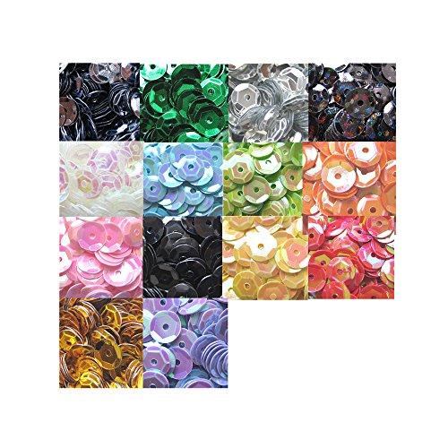 Nicole Knupfer 14 Farben 6 mm Pailletten basteln 5600Stück Rainbow Tasse Pailletten Bulk irisierend