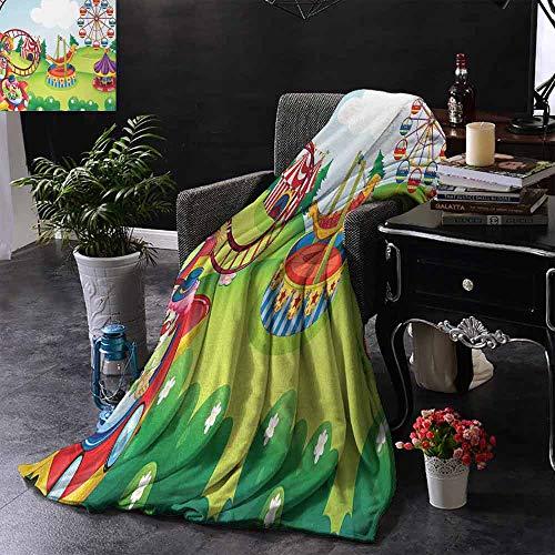 GGACEN bont gooien deken Xmas Scene met Versierde Lichtgevende Boom en geschenken door de open haard Artful Image voor bed & bank Sofa Easy Care