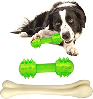RvPaws Dog Toys Combo Rubber Dumbbell Dog Toy Chew Bone Toy for Dog and Puppy (Colour May Vary)