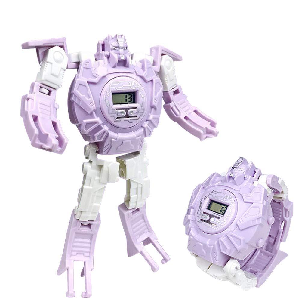 TwoCC Transform Toys robot reloj 3 en 1 proyección niños reloj ...