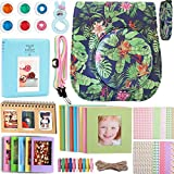 Case & Accessories Compatible with Fujifilm Instax Mini 9/8 / 8+ Instant Polaroid Film Camera, Include Albums, Filters, Strap & Other Accessories [Tropic Jungle, 9 Items Kit] by SAIKA