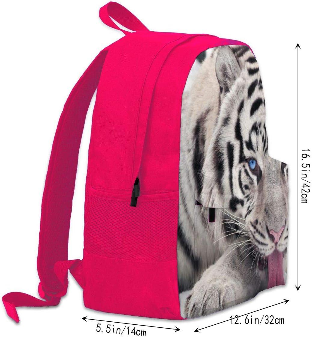 Backpack Trendy White Tiger Laptop Travel School College Backpacks Bag