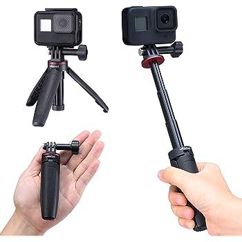 Ulanzi Gopro 自撮り棒 セルカ棒 3段伸縮 3way自撮り棒 +伸縮一脚+三脚 GoPro hero 8 7 6/GoPro MAX用 DJI OSMO ACTION/OSMO POCKET用 アクションカメラ vlog アクセサリー