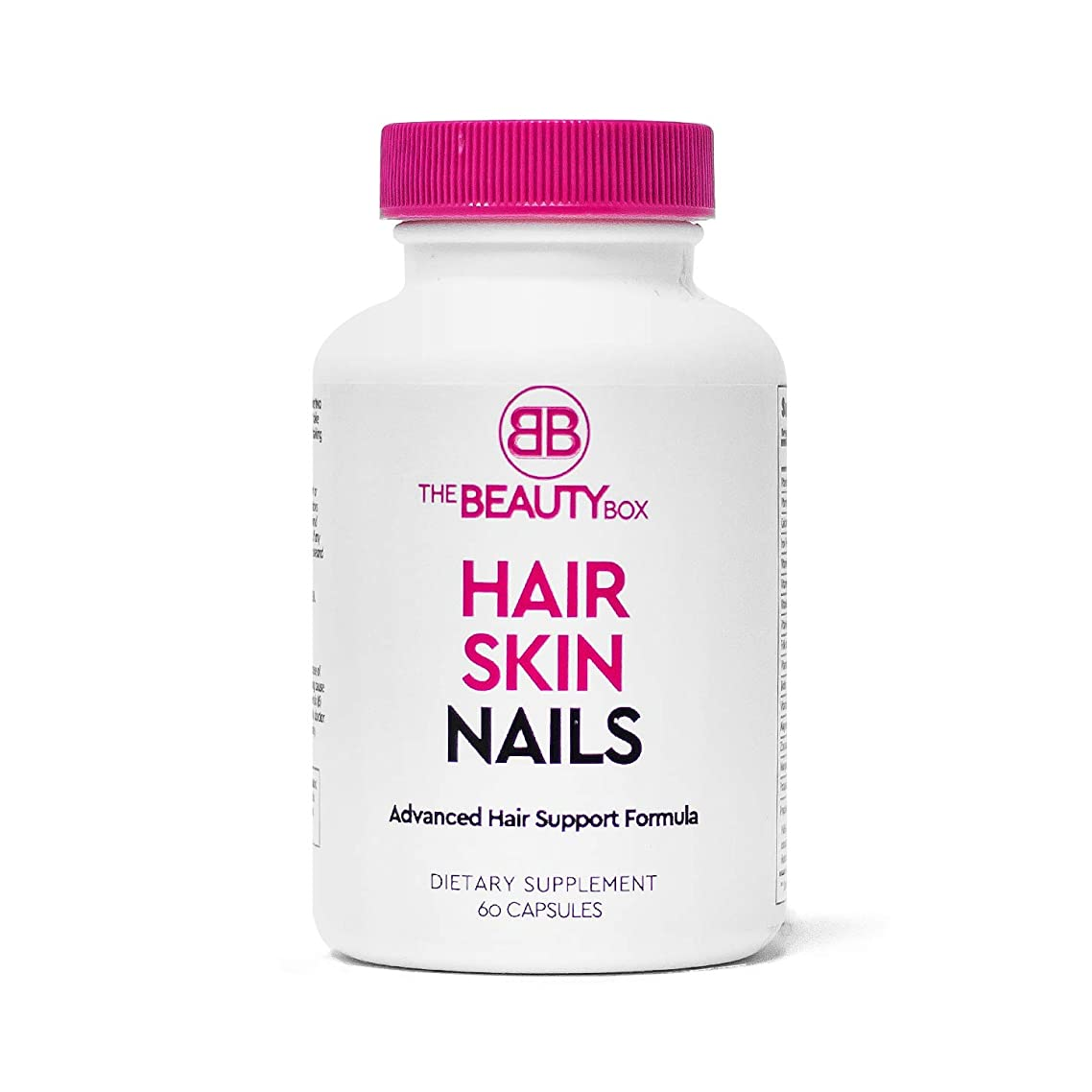 The Beauty Box Hair Skin and Nails Supplement with Biotin to Grow Faster Healthier, Thicker Hair and Strong Nails and Boost Glowing Skin, Helps Prevent Hair loss (1 pack)