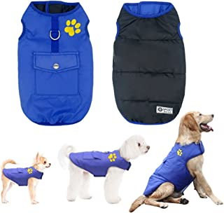 Didog Winter Waterproof Dog Vest Coats Jackets,Warm Reversible Outwear for Small Medium Large Dogs