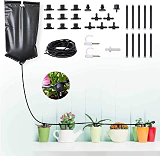 Indoor Irrigation System Kit Automatic Drip Irrigation System Garden Watering System DIY Drip Sprinkler System Kit with 10...