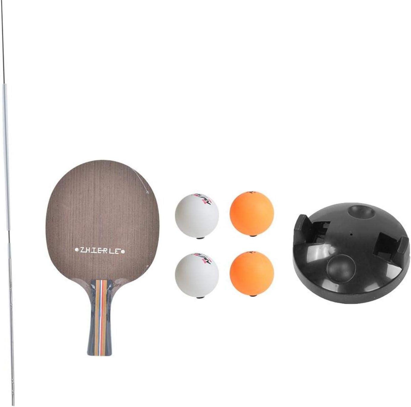 Qqmora Entrenador de Tenis de Mesa Ocio con Pelotas de Ping-Pong Ejercicio de Rebote Juego de Raquetas de descompresión Equipo de Entrenamiento de Ping-Pong para niños