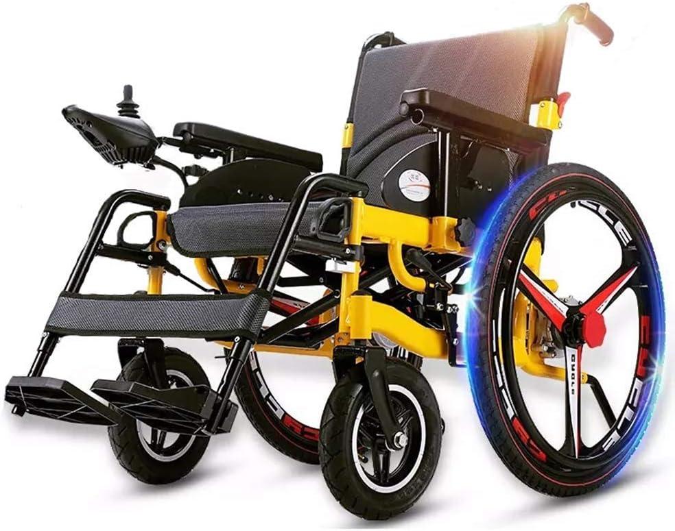 TXDWYF Foldable Power Electric Wheelchair Polymer Mesa Mall with Topics on TV Ba Li-Ion