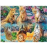 WANGHH Pintura de diamante 5d Novedades Gato Tigre León Leopardo Cuadrado completo Bordado de diamantes Paisaje Diamante Mosaico Animales Arte- 30x40cm sin marco