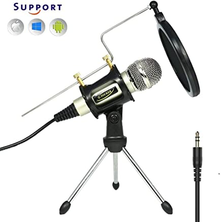 Microfono a condensatore a registrazione professionale di studio, set di microfoni per iphone con registrazioni di supporto e supporto per YouTube, Skype, FaceTime, Vocals, Podcast - MC6S - Confronta prezzi