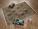 TIWA GHOM echter klassischer Orient Felderteppich handgeknüpft in creme-creme, Größe: 250x300 cm - 2