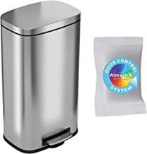 iTouchless with Odor Control System, 30 Liter Pedal Perfect for Office, Home and Kitchen SoftStep 8 Gallon Stainless Steel...