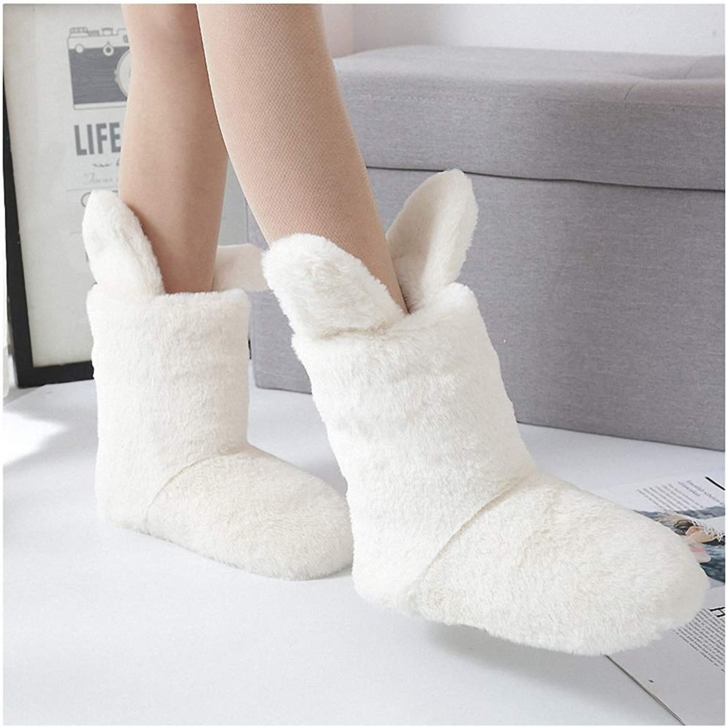 Womens Slippers Winter Women's Cute Rabbit Slippers Indoor shoes Comfort Warm Home Soft Fur Slippers