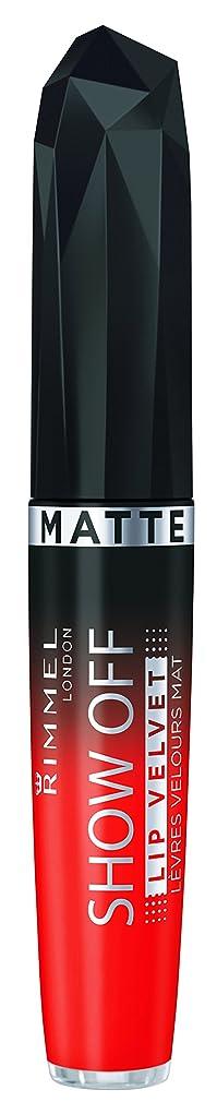 通り抜けるメイト恐れるRIMMEL LONDON Show Off Matte Lip Velvet - Orange-Ology (並行輸入品)