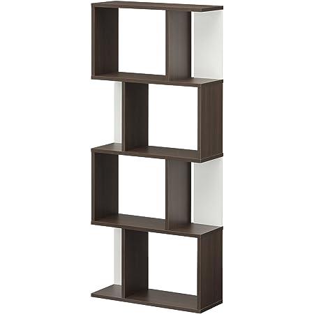 【Amazon.co.jp限定】白井産業 ディスプレイラック 約 幅60 奥行24 高さ143 cm 本 棚 bookshelf ブラウン (KI2-1460 DK キアエッセ2)