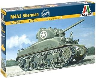 Italeri 7003 1:72 Kit de montaje - Modelos de vehículos militares de tierra (1:72, Kit de montaje, Sherman M4A1, De plástico, Second World War, Caqui)