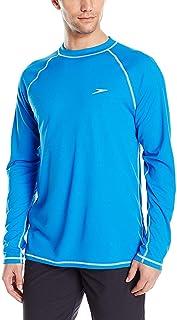 Speedo Men's Uv Swim Shirt Long Sleeve Loose Fit Easy Tee