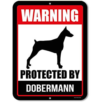 Dog Lover Funny Home D/écor for Garages SignMission personalized gift Doberman Pinscher Street Sign Living Rooms 24 Wide Plastic Sign Indoor//Outdoor Offices Bedroom