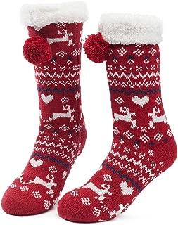 Womens Warm Fuzzy Slipper Socks Christmas Gift Winter Girls Cozy Funny Grip Socks