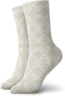 Pengyong, Pengyong - Calcetines para Hombre y Mujer, diseño Cuadrado, Color Blanco, Transpirables, Transpirables, para Correr, Entrenamiento, Deportes, Caminar, para Hombres y Mujeres
