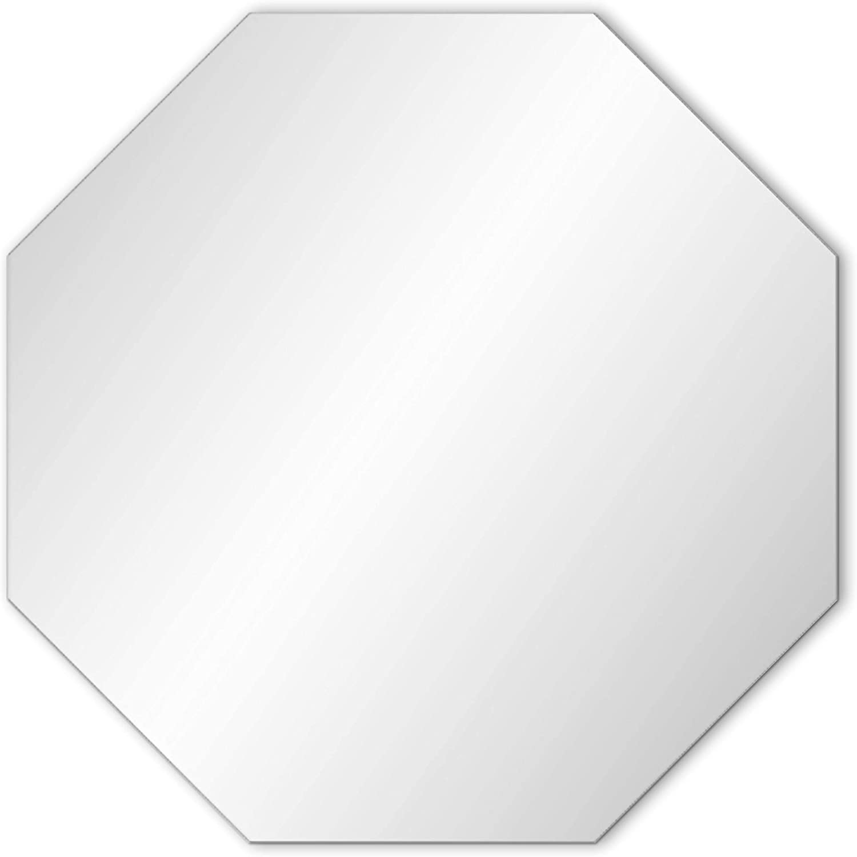 "Frameless Hanging Octagon Wall Mirror: Beveled Edge Chic Geometric Wall Decorative for Bathroom, Vanity, Bedroom(32""x32"")"