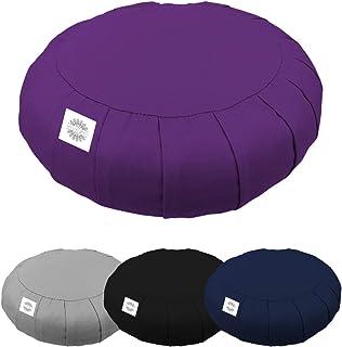 Vivezen ® Pouf, zafu, coussin de méditation, yoga - Rond - 38 x 38 x 13 cm - 4 coloris - Norme CE