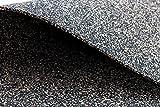 Goma corcho, corcho (granulado de goma, vibración–Estera, insonorización 100cm x 50cm 3mm de grosor, aprox. 550kg/m³, verscork objeto Calidad, también para una mejor rápido bajo maciza parqué, PVC, linóleo y alfombra Adecuado.