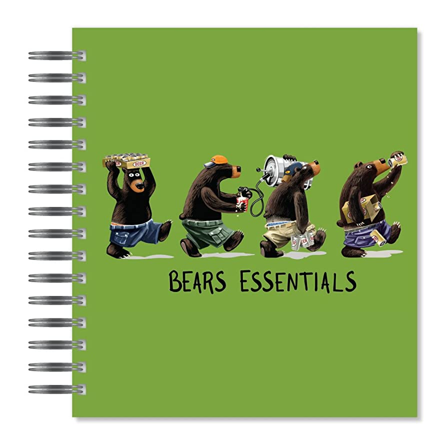 ECOeverywhere Bear Essential Picture Photo Album, 18 Pages, Holds 72 Photos, 7.75 x 8.75 Inches, Multicolored (PA11756)
