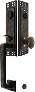 Arts & Crafts Style Tubular Handleset in Oil Rubbed Bronze with Hammered Egg Knobs and 2 3/8