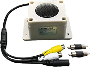 Audio Speaker with Microphone for Surveillance Camera, Built-in Volume Control, IP66 Waterproof Grade