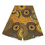 Afrikanischer Stoff – gelb/orange Kreise – Wachstuch