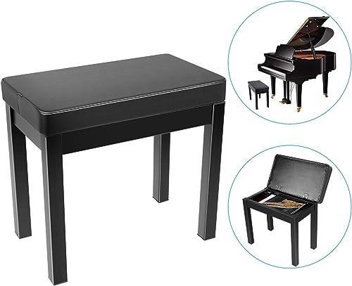 Neewer Banc de Piano et Clavier Tabouret Rembourré Confortable avec Compartiment Stockage, Pieds en Fer pour Piano, C...
