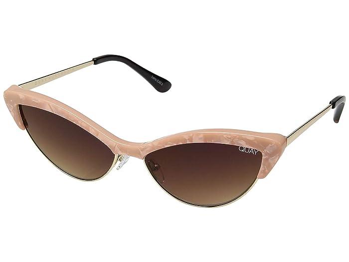 1950s Sunglasses & 50s Glasses   Retro Cat Eye Sunglasses QUAY AUSTRALIA All Night Peach PearlBrown Fashion Sunglasses $60.00 AT vintagedancer.com