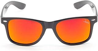 Desire - BlackVolcano - Gafas de sol polarizadas con efecto espejo (PET reciclado, UV400), para hombre y mujer, color rojo y dorado