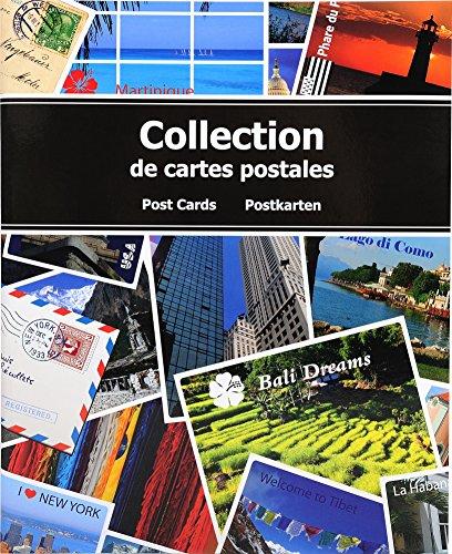 Exacompta 96115E Album da Collezione per 200 Cartoline postali-20x25, Disegno, 20x25,5 cm