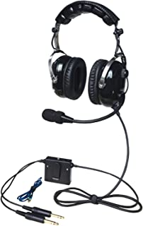 UFQ A28 Great ANR Aviation Headset Active Noise Reduction-Compare with Rugged Air RA950 BUT UFQ A28 with Mp3 Input Bose Grade Hi-Fi Sound for Music and Free with a Headset Bag