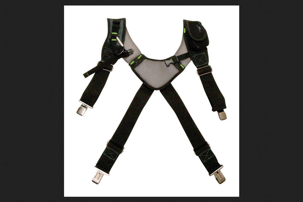 McGuire-Nicholas - BL-30289 30289 Bl- Load Bearing Gelfoam Suspenders For Added Back Support, Black Black