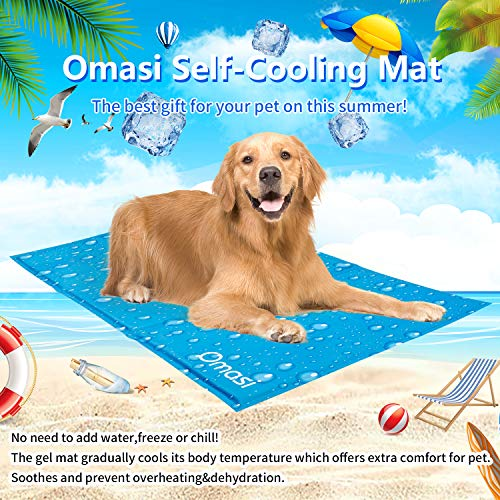 Omasi Tappetino Refrigerante per Cane Animali Domestici Pad di Raffreddamento Automatico Stuoia per Cani per L'Estate (50X90CM)
