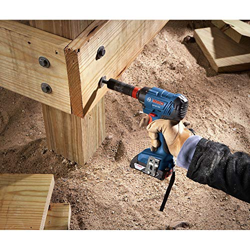 Bosch GDX18V-1600B12-RT 18V Freak Lithium-Ion 1/4 in. and 1/2 in. Cordless Two-In-One Bit/Socket Impact Driver Kit (2 Ah) (Renewed)