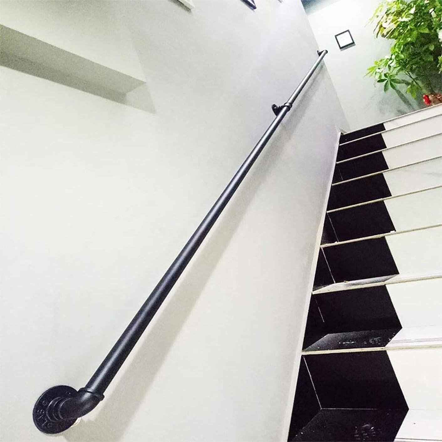 炭水化物はっきりと正当化する階段用手すり壁、産業錬鉄丸パイプ階段や歩道の手すり、屋外屋内階段ポーチデッキハンドレール、1フィート、20フィート (Size : 13ft)